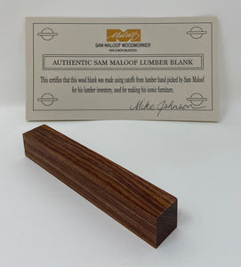 Cocobolo Pen Blank (Authentic Sam Maloof Lumber)