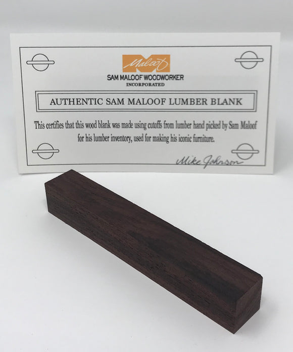 East Indian Rosewood Pen Blank (Authentic Sam Maloof Lumber)