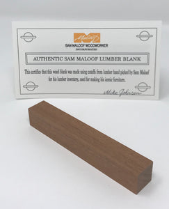Sapele Pen Blank (Authentic Sam Maloof Lumber)
