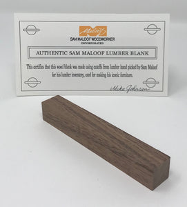 Black Walnut Pen Blank (Authentic Sam Maloof Lumber)