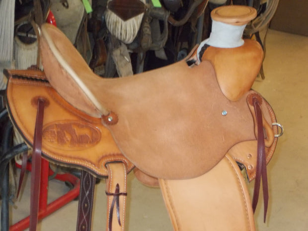 Custom Praying Cowboy Saddle