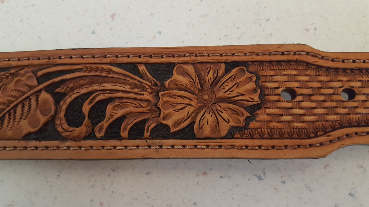 Floral Tooled Belts