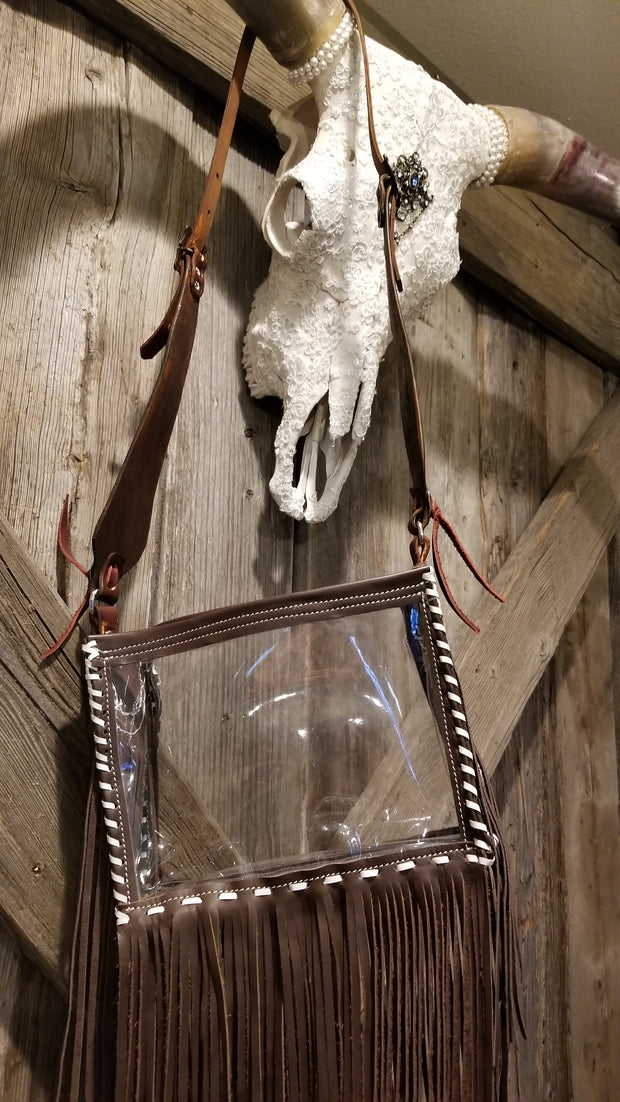 Clear Bag with Fringe