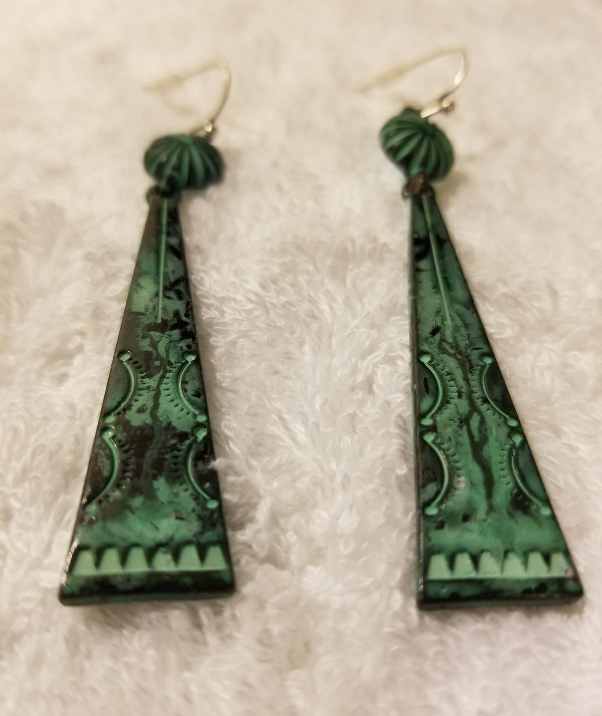 Copper Tooled Earrings