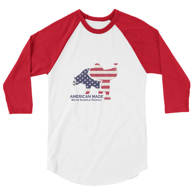 BSR flag logo 3/4 sleeve raglan shirt