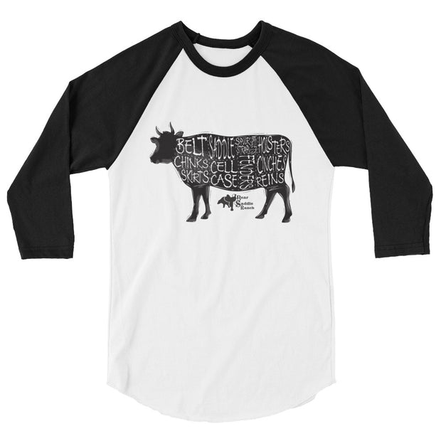 Black & White cow can make what? 3/4 sleeve raglan shirt