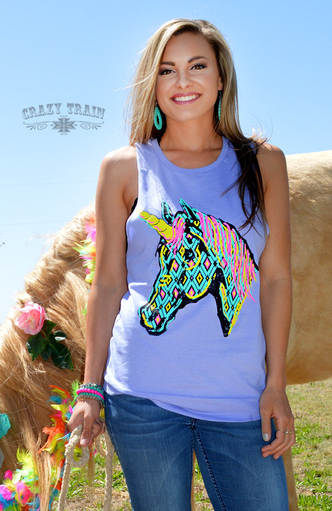 Summer Magic Unicorn Tank...What is waiting for you this summer?