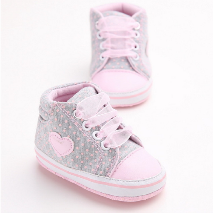 Ribbon Heart Sneakers.