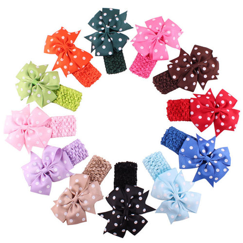Polka Dotted Headband