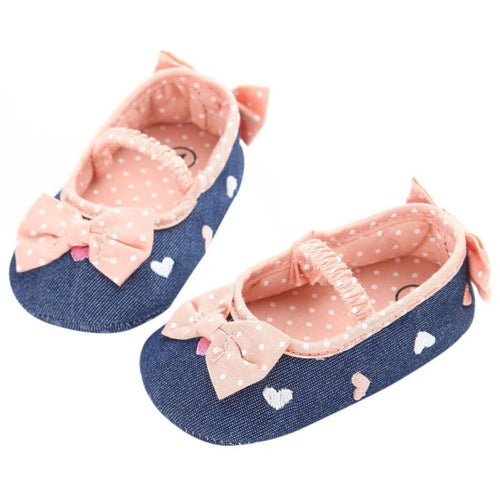 Bowknot Denim Mary Janes