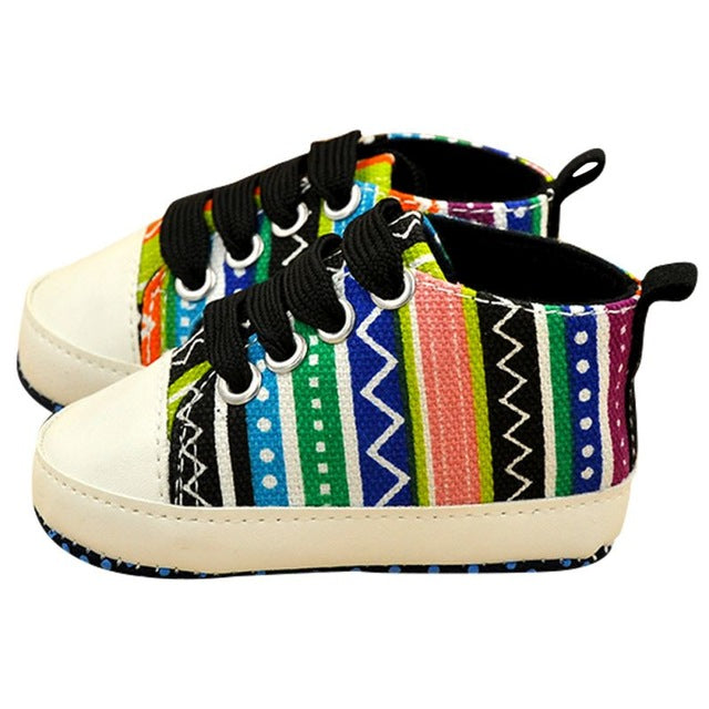 Colorful Canvas Sneakers.