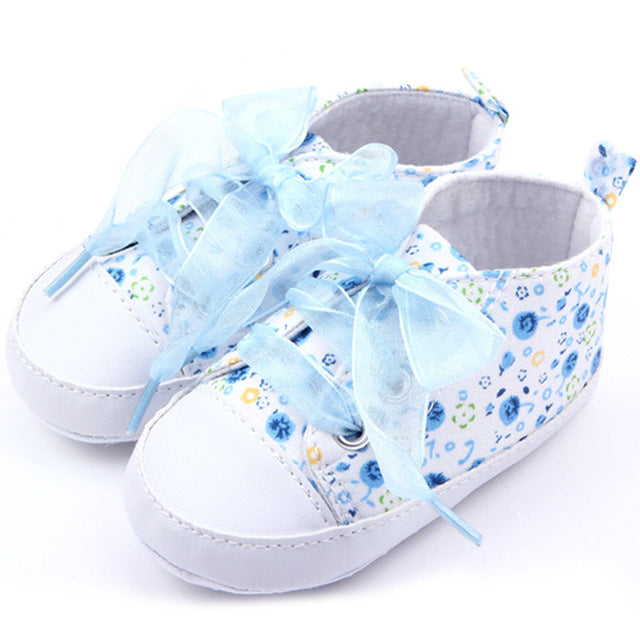 Floral Lace Ribbon Sneakers Promotion