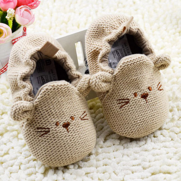 Knitted mouse Shoes
