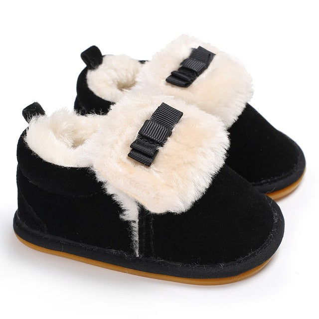 Bowknot Winter Slippers.