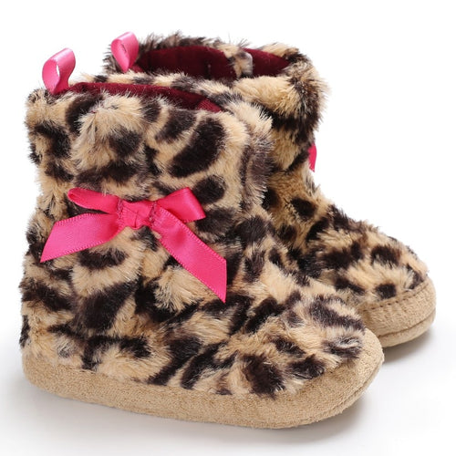Fluffy Leopard Boots