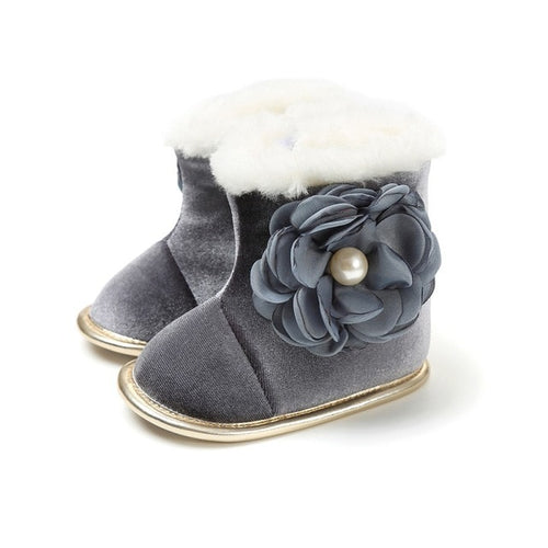 Floral Winter Boots