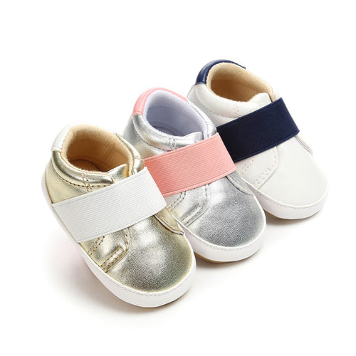 Metallic Strap Sneakers