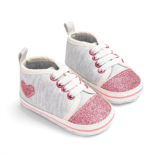 Shiny Heart Sneakers