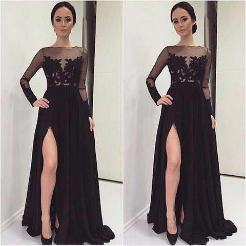 Bridesmaid Dresses With Sheer Sleeves-Brides Maid Dresses-Weddings Enchanted
