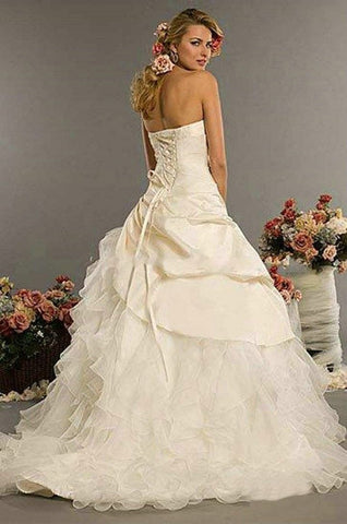 'Classic Style Strapless Applique Bridal Gown-Wedding Dresses-Weddings Enchanted
