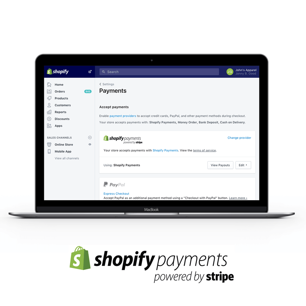 Shopify Payments Setup