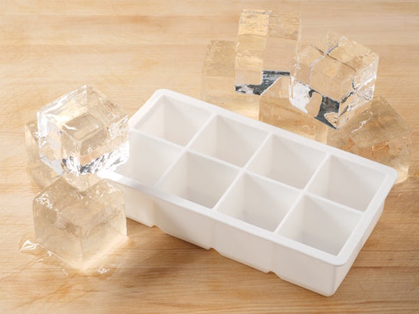 Cocktailier Silicone Square Ice Cube Trays with Lids