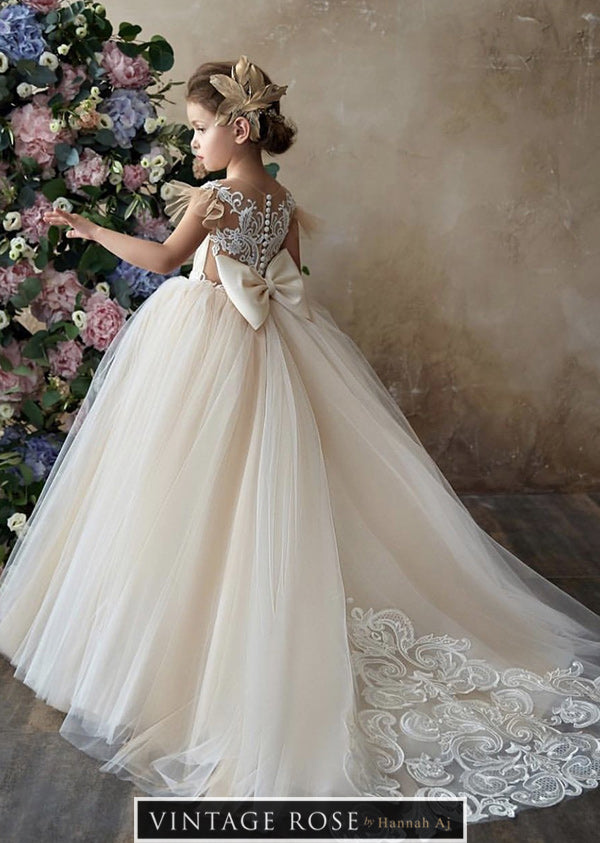 758c3a0ebc79 2019 Sophia Flower Girl Dress – Vintage Rose by Hannah Aj