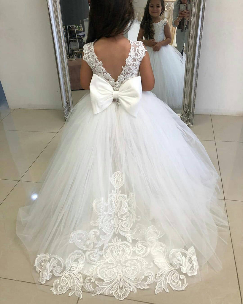 Chanel flower girl dress