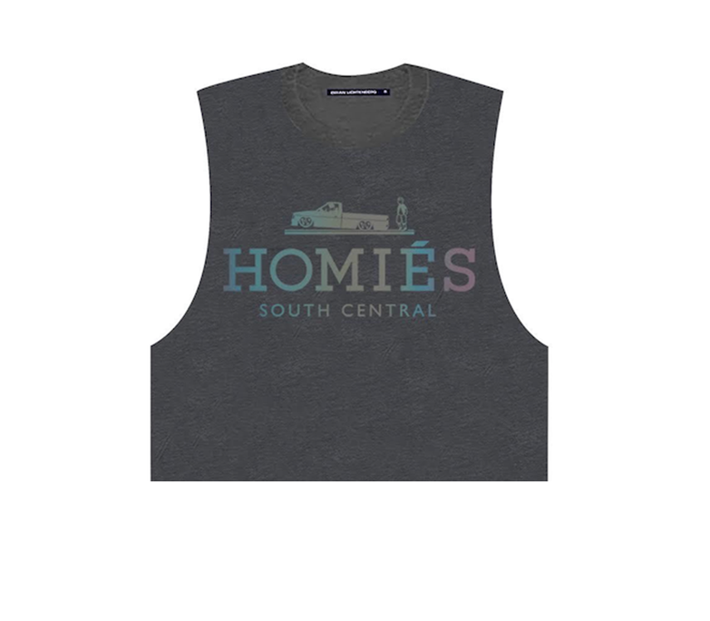 HOMIÉS IRIDESCENT MUSCLE CROP TOP