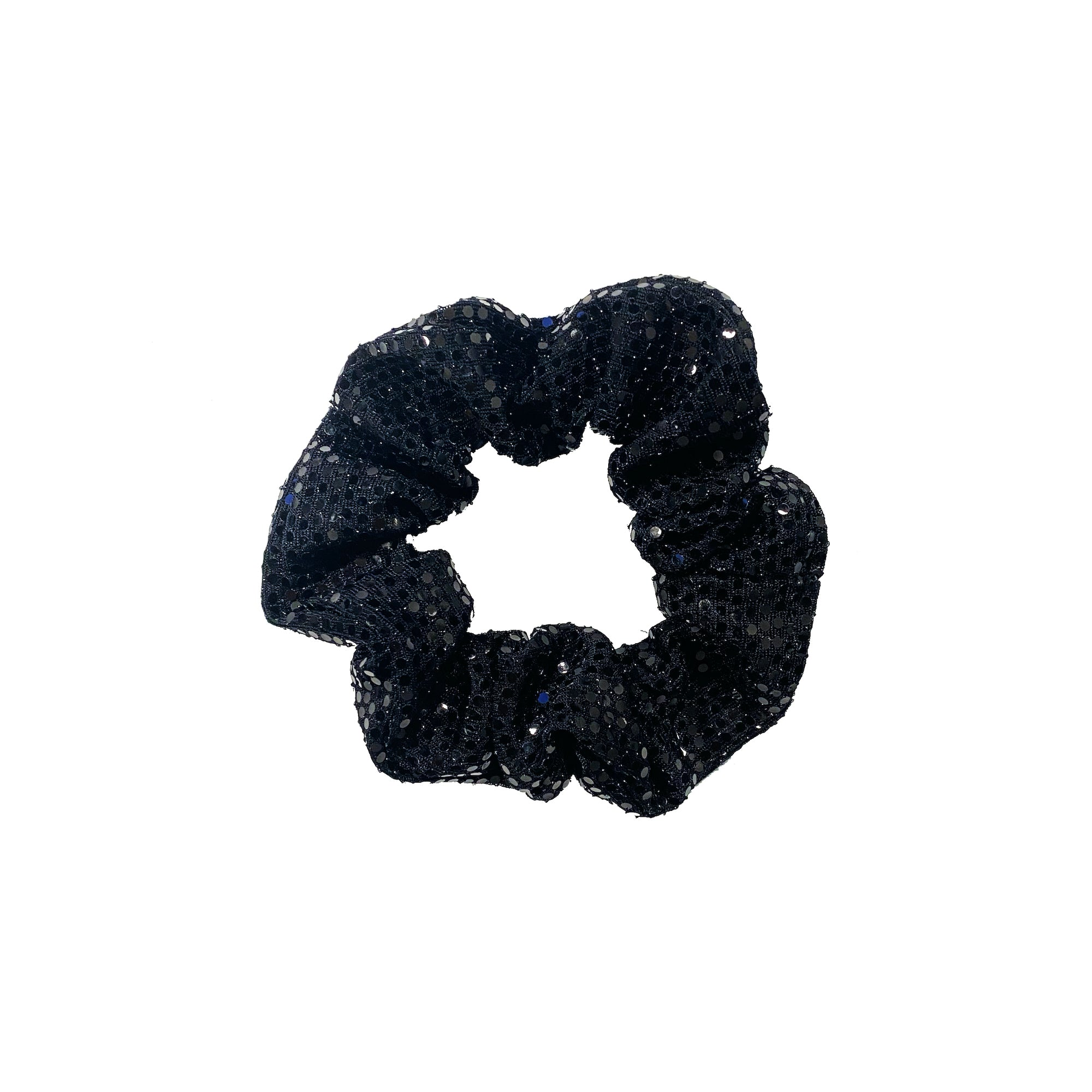 BLACK DOTTED SCRUNCHIE BRACELET
