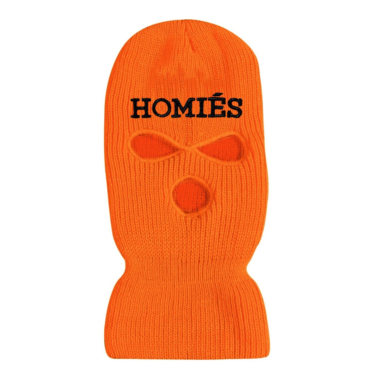 HOMIÉS NEON ORANGE/BLACK SKI MASK BEANIE