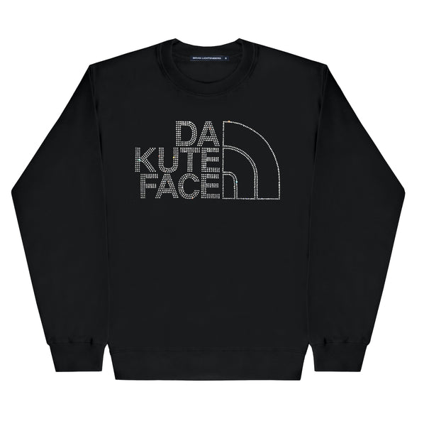 DA KUTE FACE CRYSTAL SWEATSHIRT