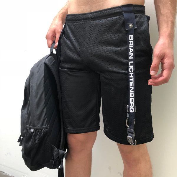 STRAPPED MESH SHORTS