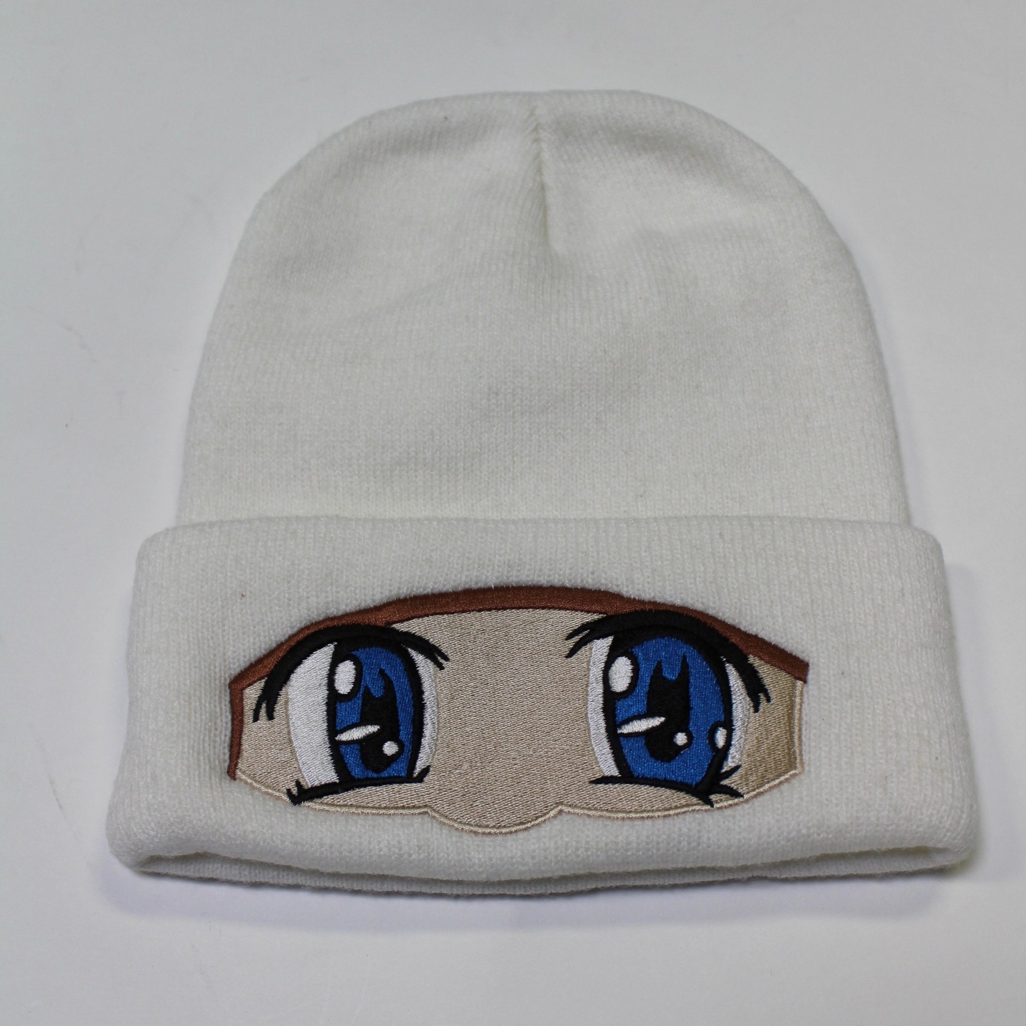 ANIME EYES WHITE BEANIE