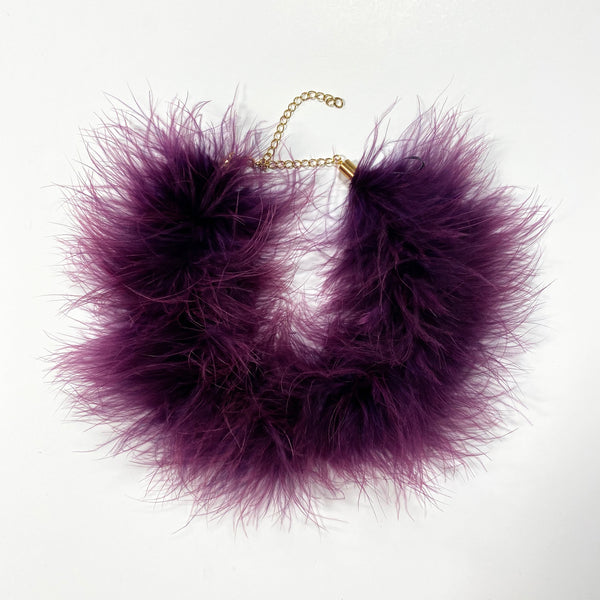 MARABOU FEATHER CHOKER