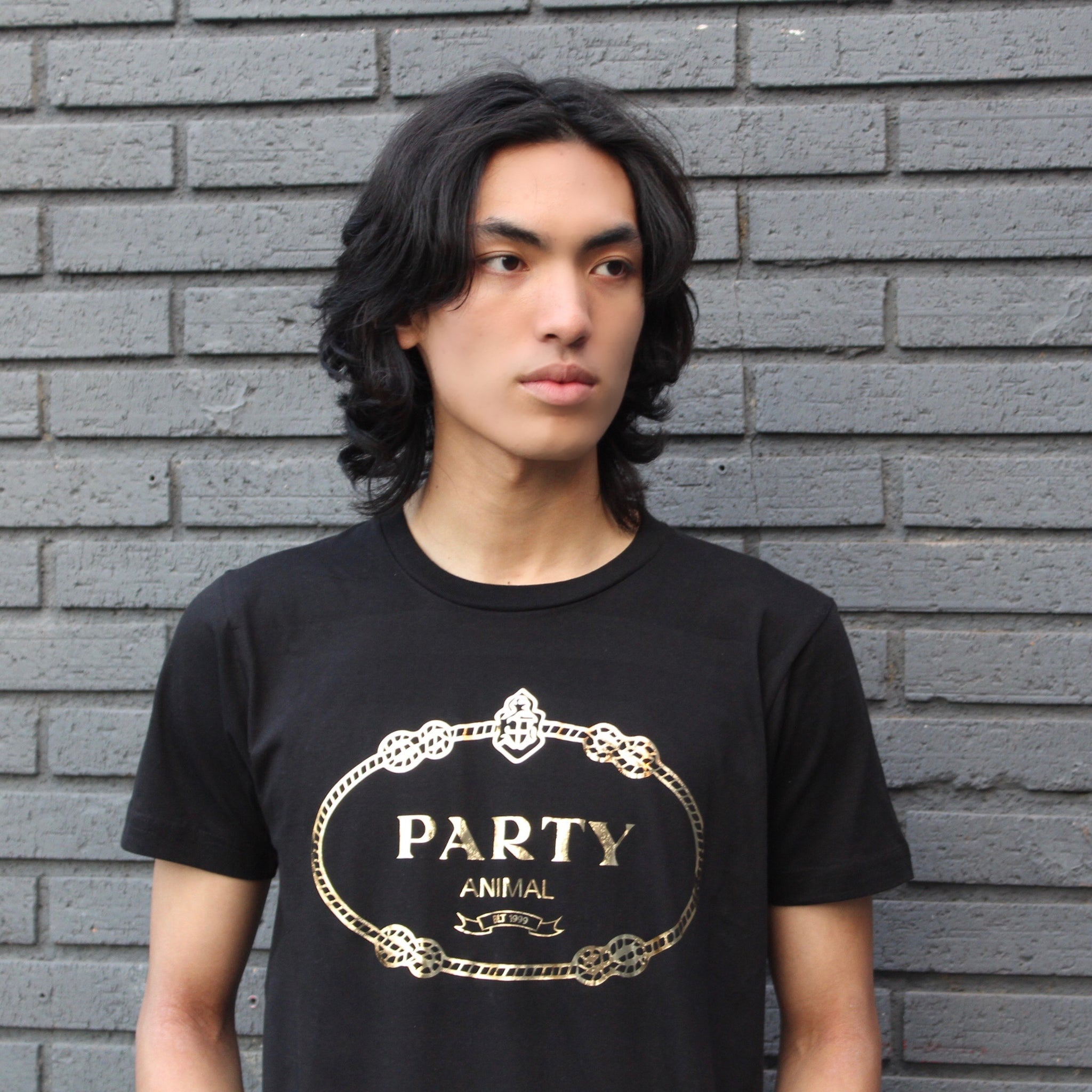 PARTY ANIMAL GOLD FOIL  TEE
