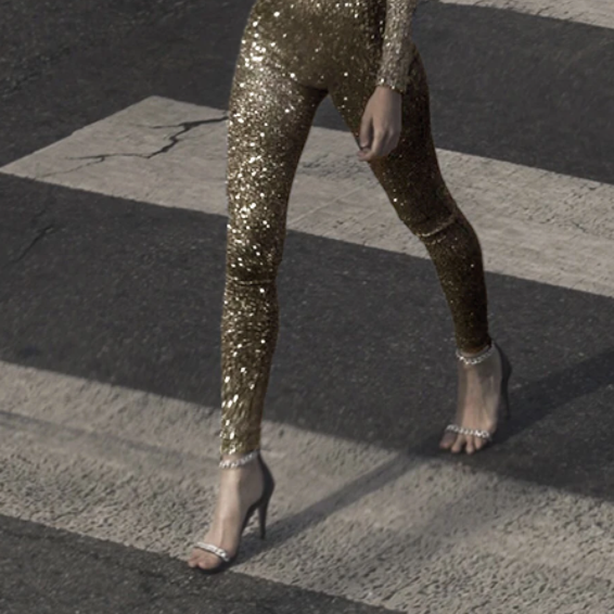 GOLD GLITTER LEGGINGS
