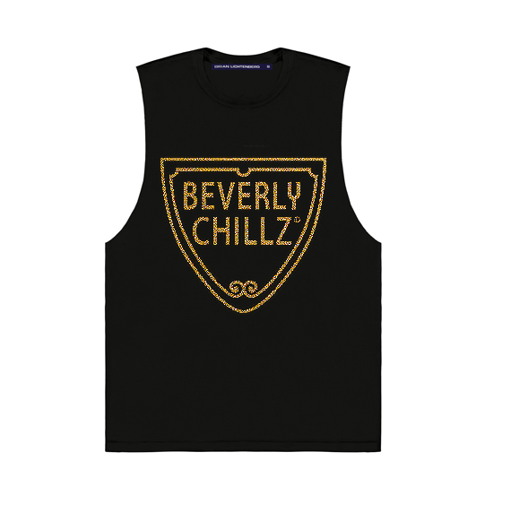 BEVERLY CHILLZ GLITTER MUSCLE TEE