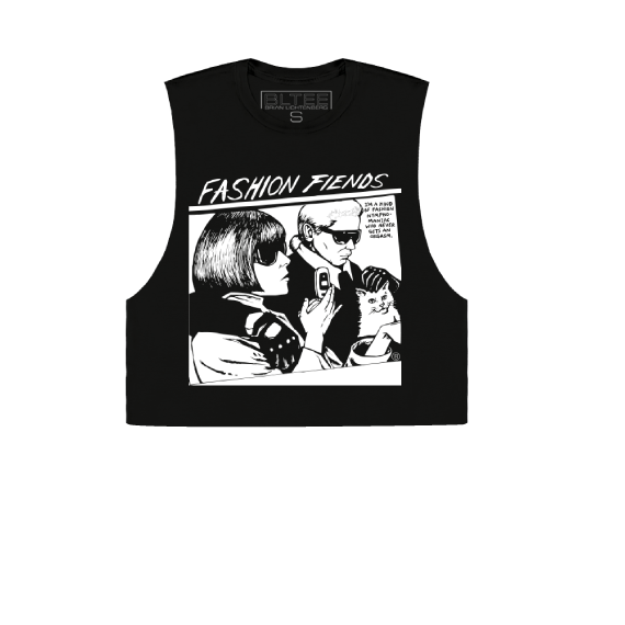 FASHION FIENDS CROPPED MUSCLE TEE
