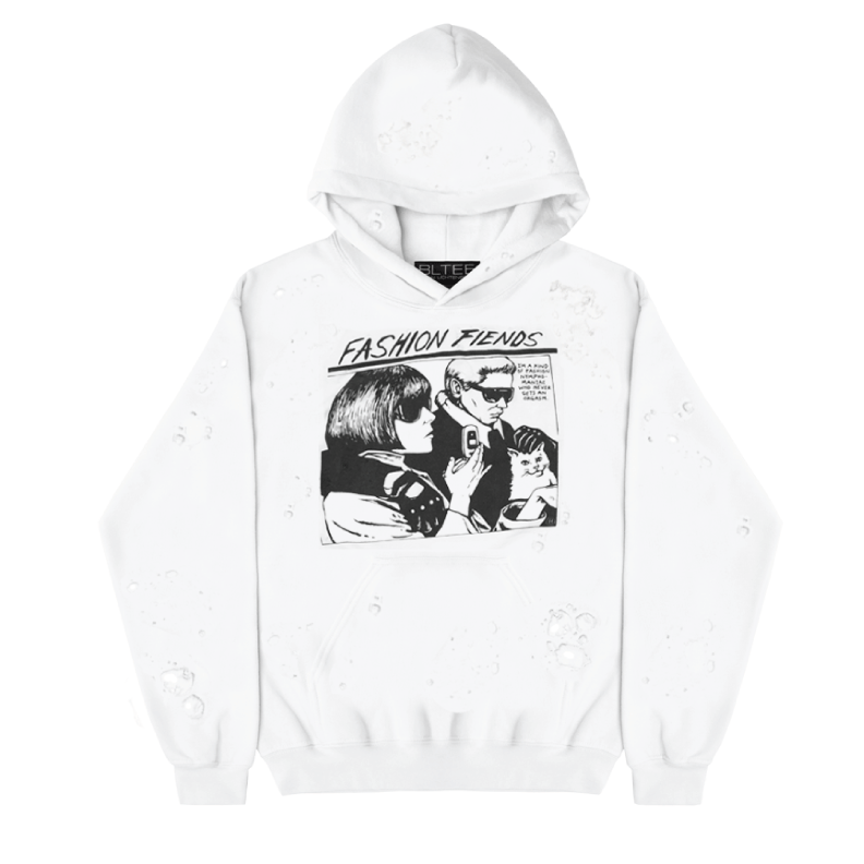 FASHION FIENDS DESTROYED HOODIE