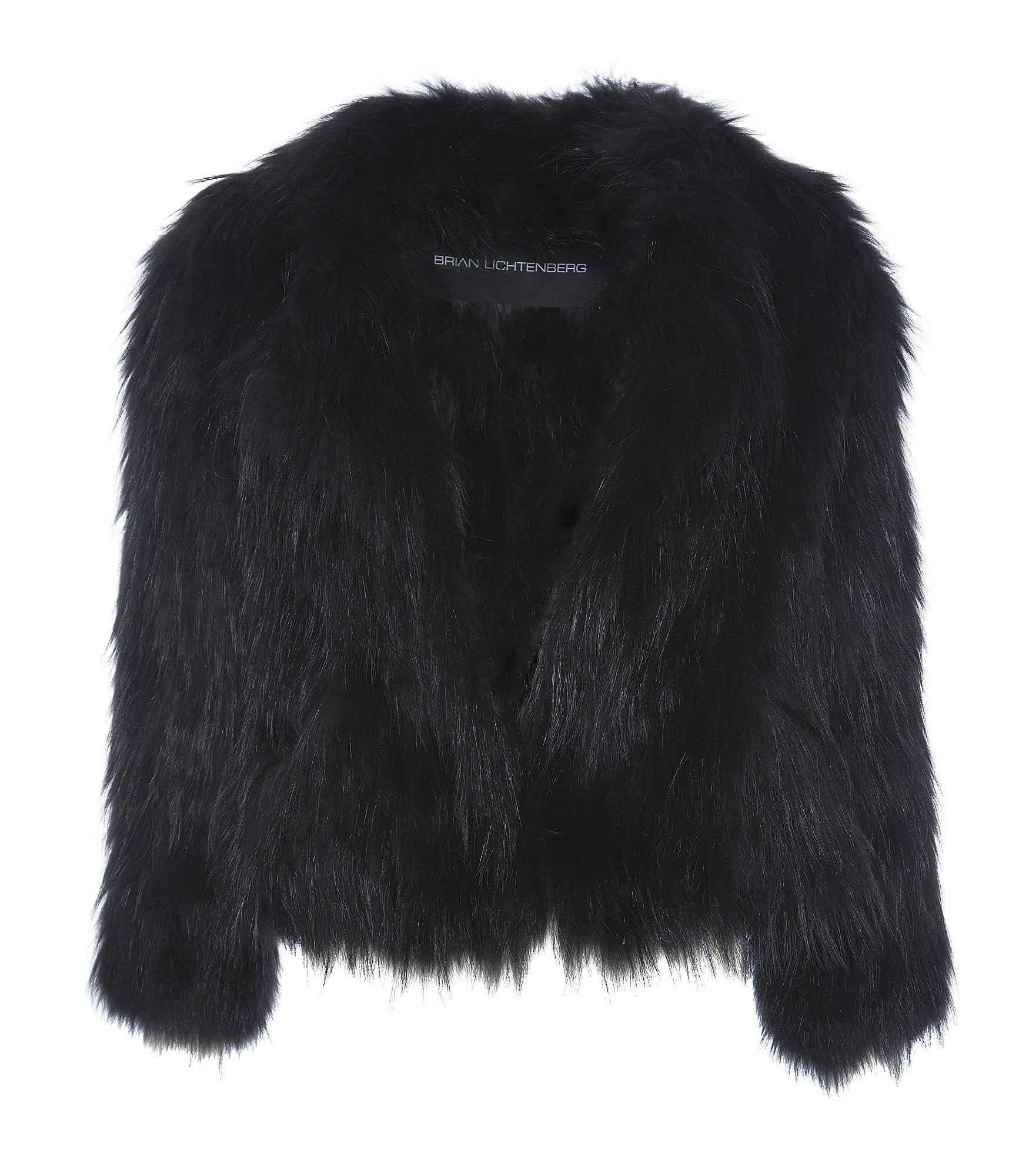 BLACK RACCOON FUR COAT