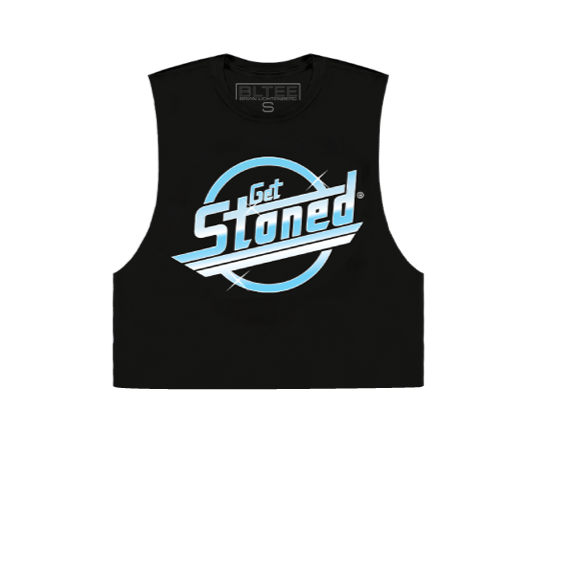 GET STONED CROPPED MUSCLE TEE