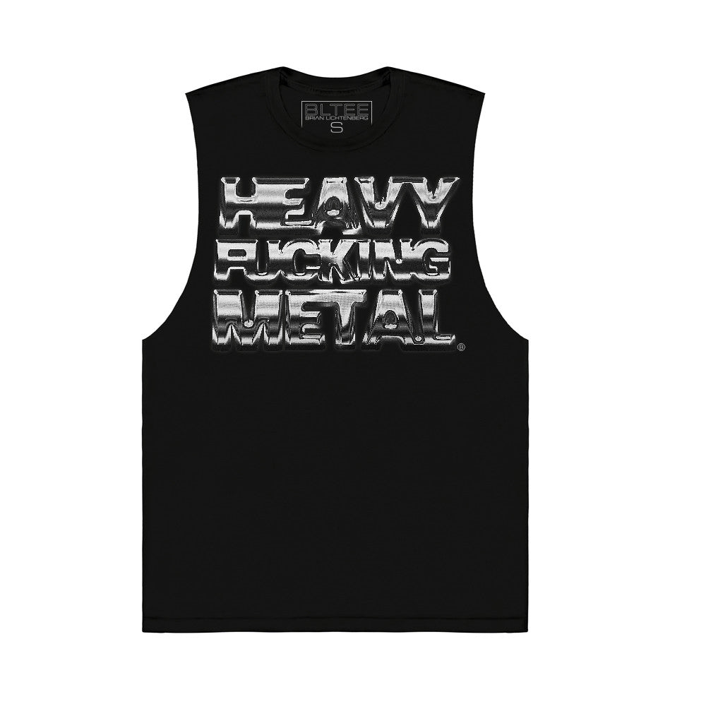HEAVY FUCKING METAL MUSCLE GRAPHIC TEE BY BRIAN LICHTENBERG