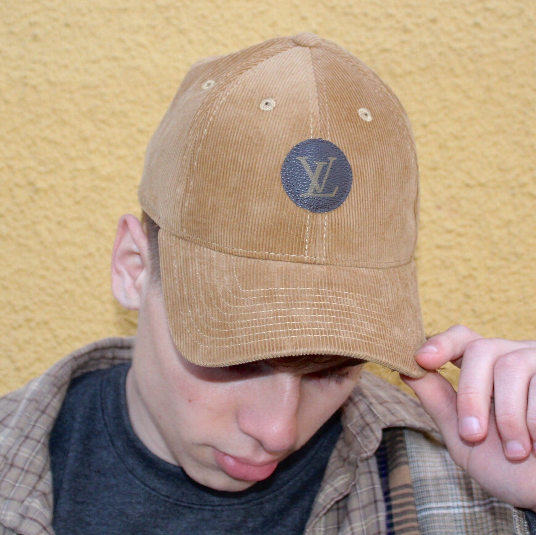 UPCYCLE LV TAN CORDUROY HAT