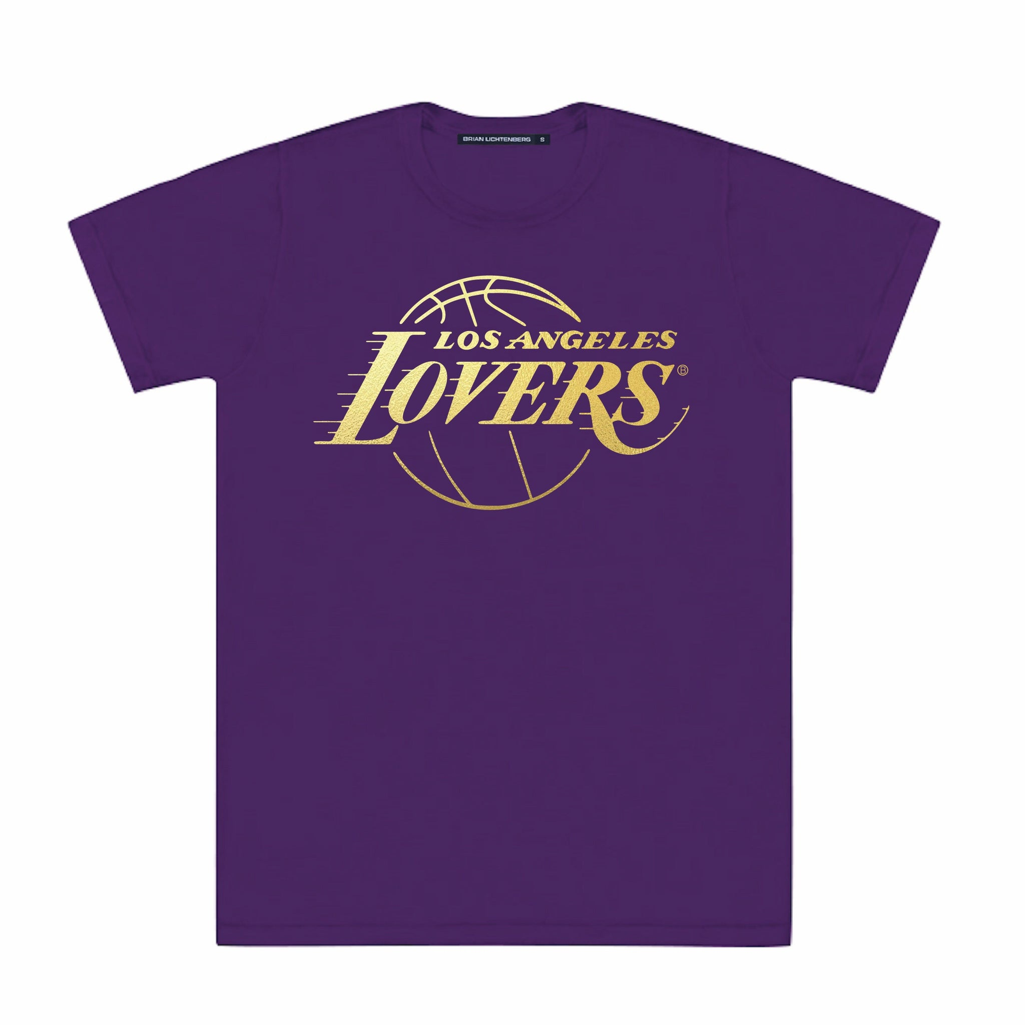 LOVERS GOLD FOIL PURPLE TEE