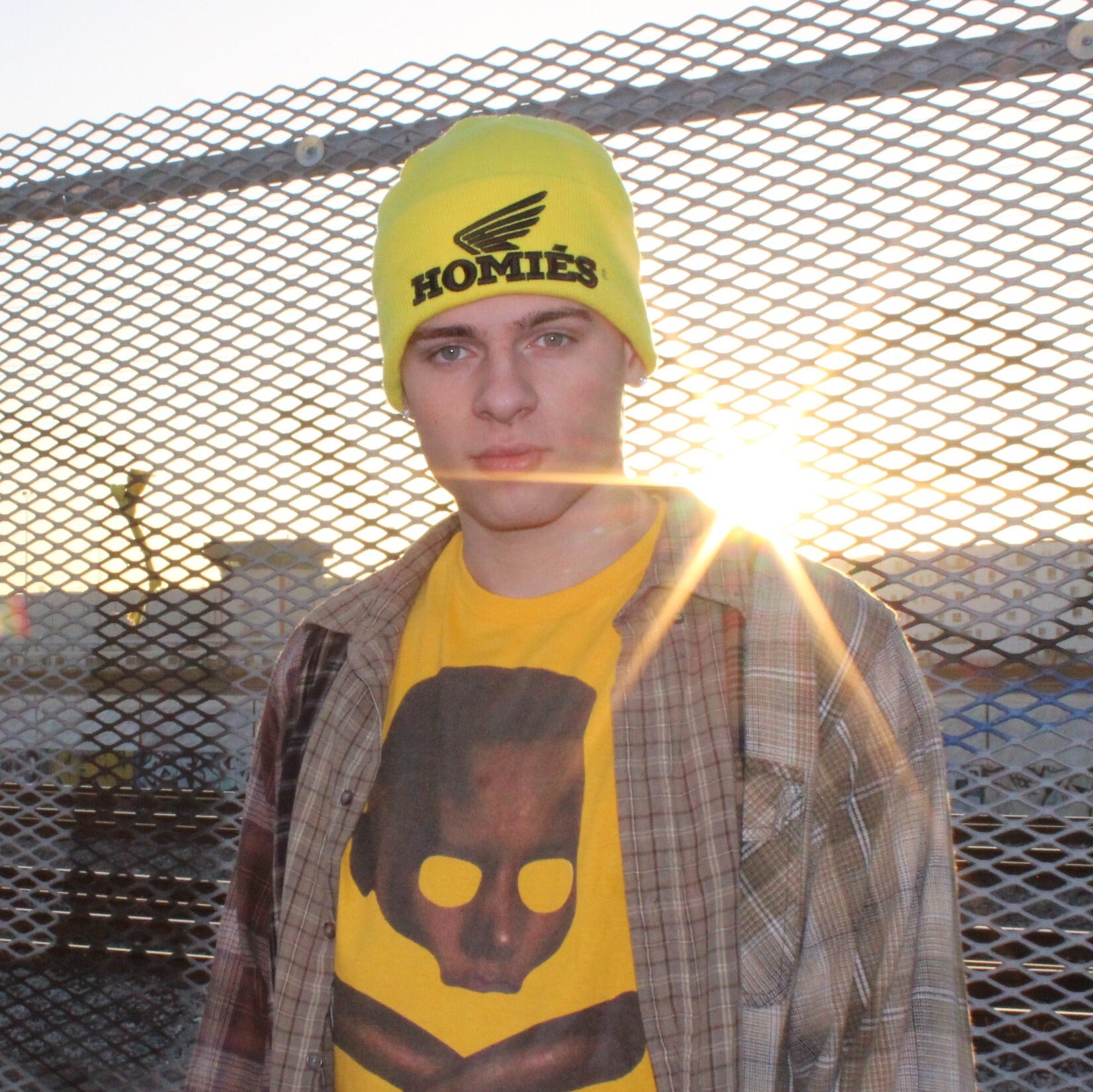 HOMIÉS WING YELLOW BEANIE