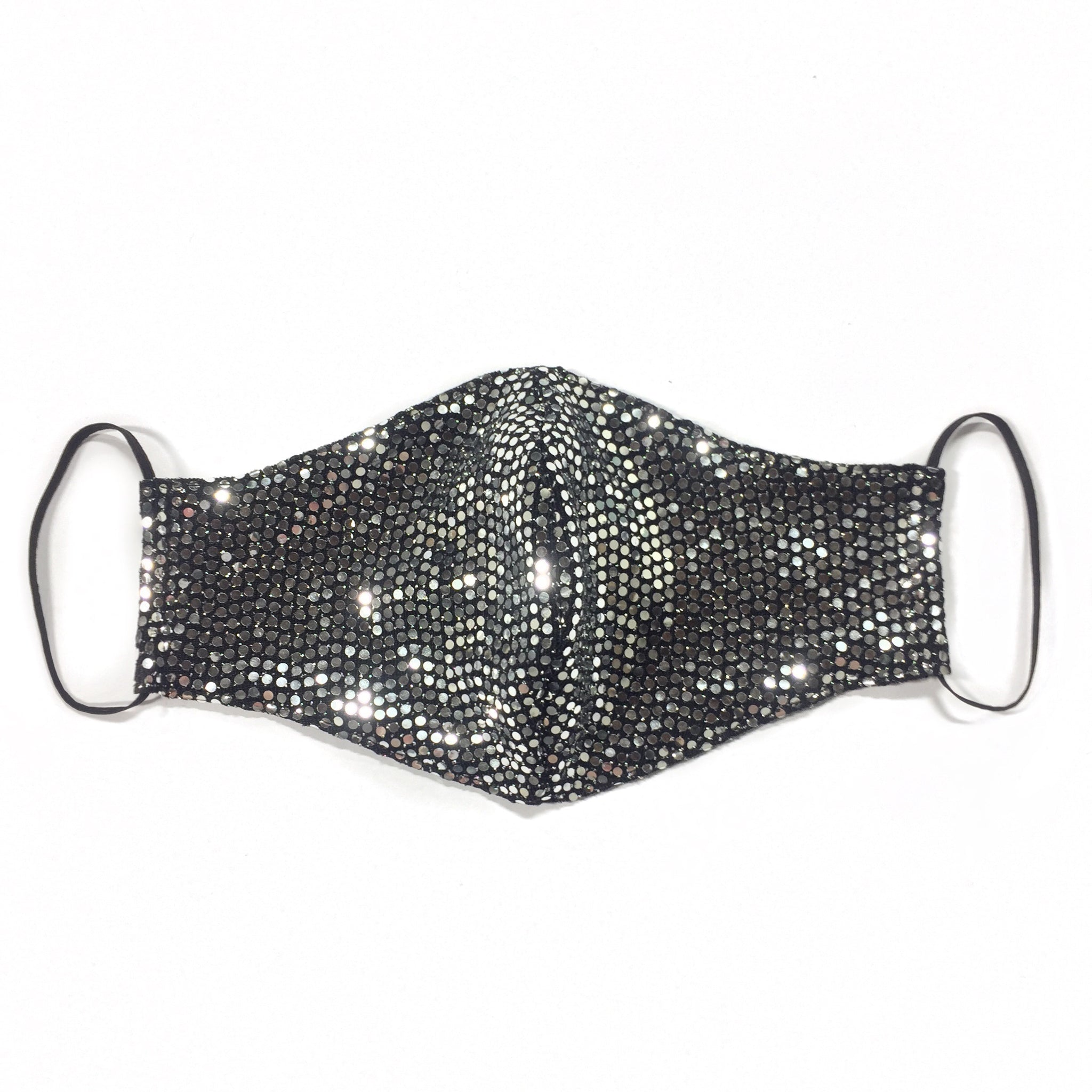 METALLIC SILVER DOTTED FACE MASK