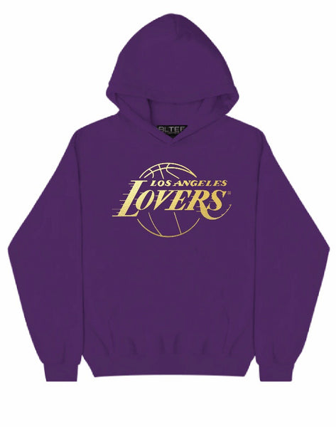 LOVERS GOLD FOIL PURPLE HOODIE