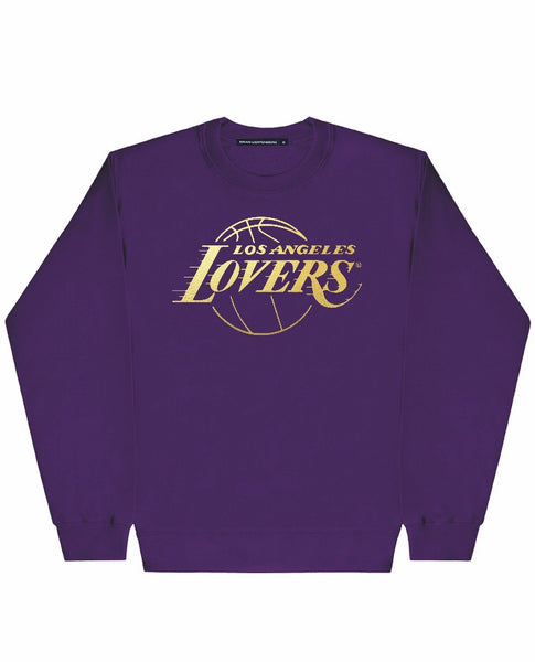 LOVERS GOLD FOIL PURPLE SWEATSHIRT