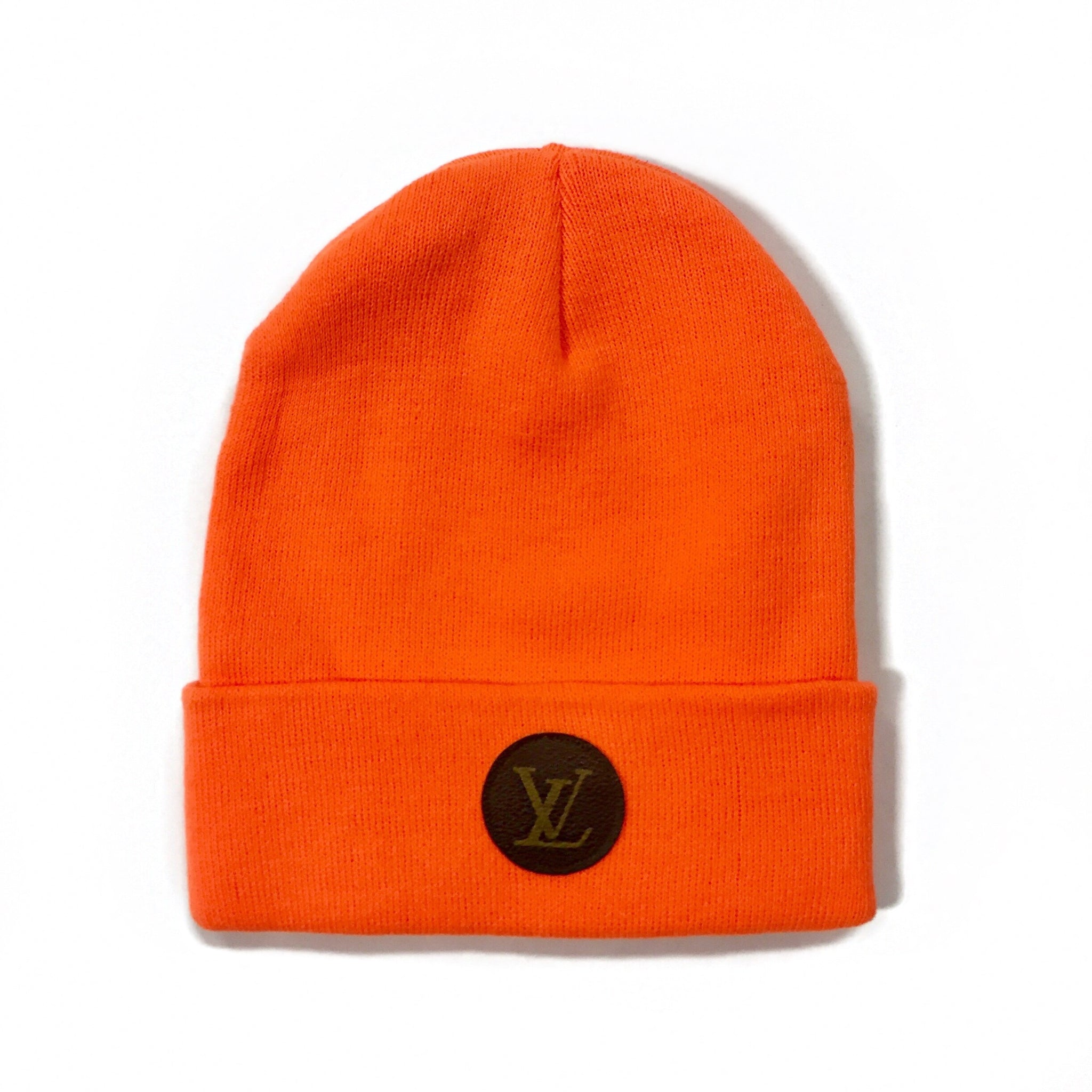 UPCYCLE LV NEON ORANGE BEANIE